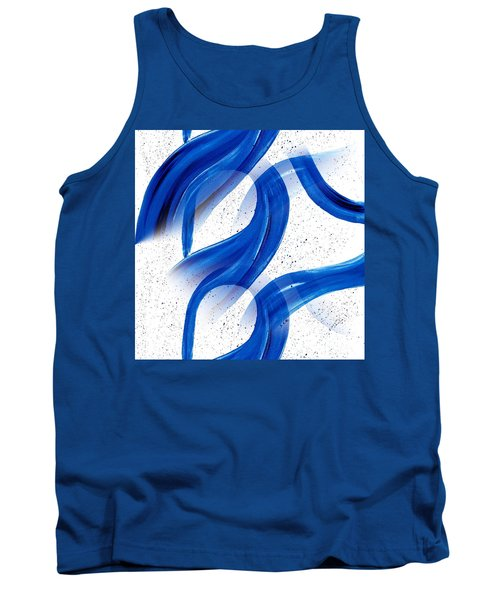 Abstract Acrylic Painting Blues Series 2 Tank Top by Saribelle Rodriguez