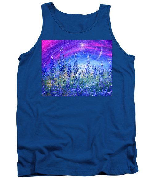 Abstract Bluebonnets Tank Top