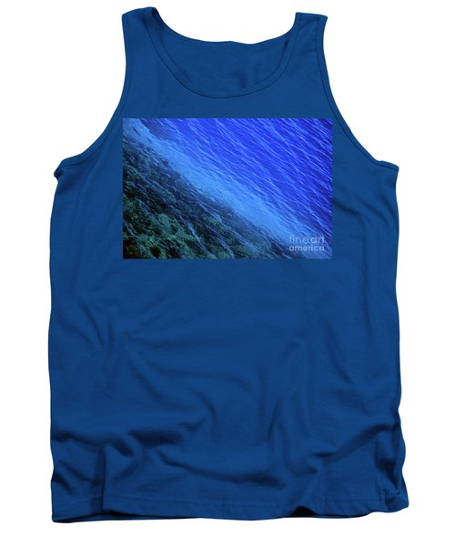 Abstract Crater Lake Blue Water Tank Top