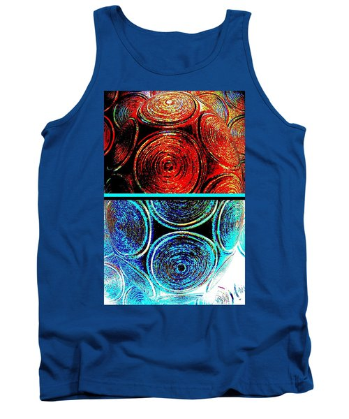 Tank Top featuring the digital art Abstract Fusion 275 by Will Borden