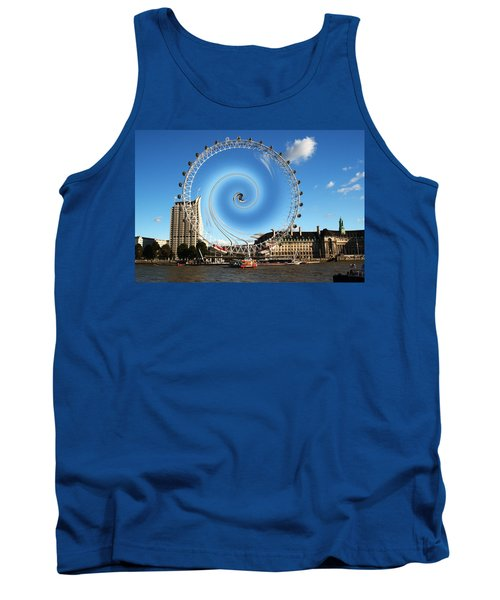 Abstract Of The Millennium Wheel Tank Top