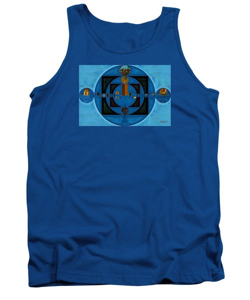 Abstract Painting - Yale Blue Tank Top