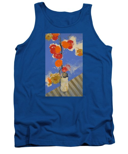Abstracted Flowers In Ceramic Vase  Tank Top