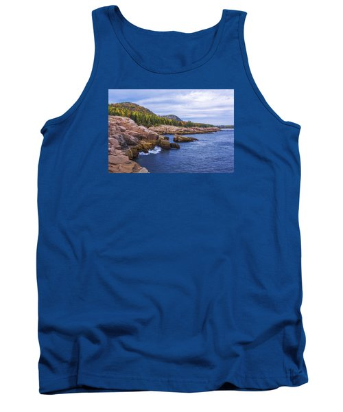 Tank Top featuring the photograph Acadia's Coast by Chad Dutson