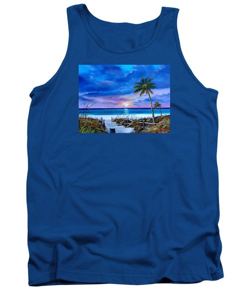 Access To The Beach Tank Top by Lloyd Dobson