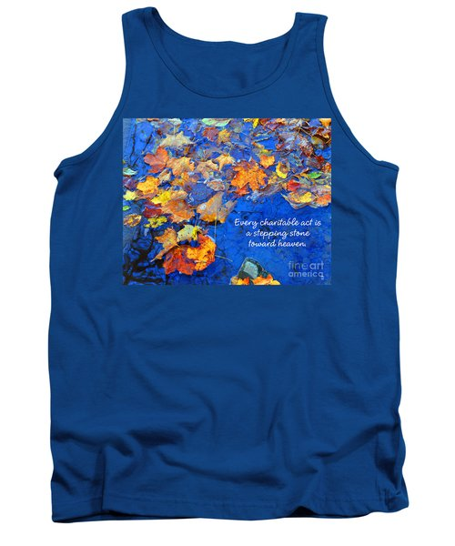 Tank Top featuring the photograph Adironack Laughing Water Charity by Diane E Berry