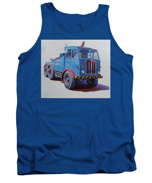 Tank Top featuring the painting Aec Militant Lloyds by Mike Jeffries