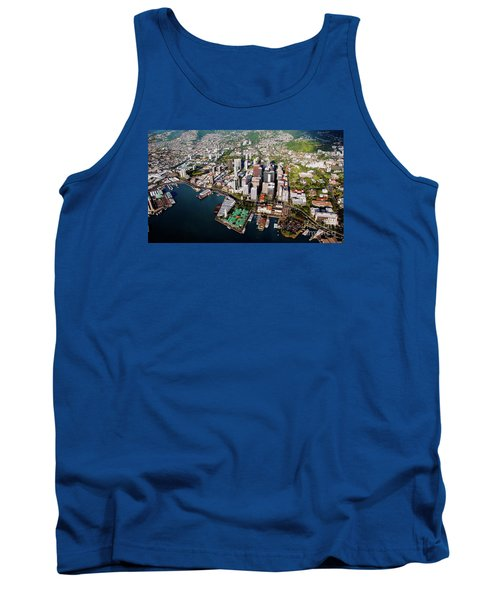 Aerial Panorama - Downtown - City Of Honolulu, Oahu, Hawaii  Tank Top