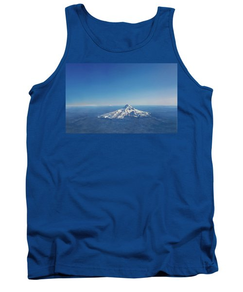 Aerial View Of Snowy Mountain Tank Top
