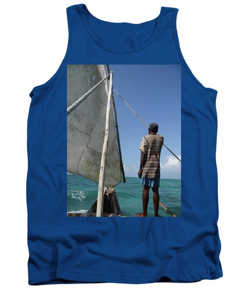 Afternoon Sailing In Africa Tank Top by Exploramum Exploramum