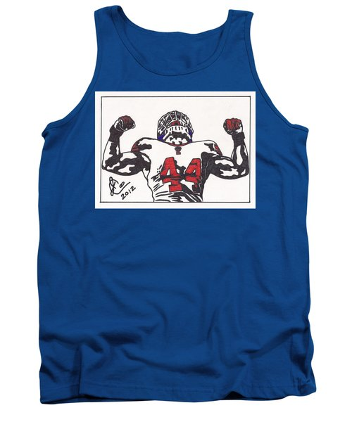 Tank Top featuring the drawing Ahmad Bradshaw by Jeremiah Colley