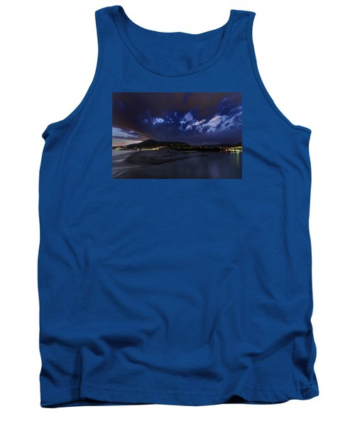 Albenga Alassio Coast Sunset With Clouds... Tank Top