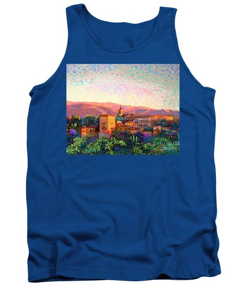 Tank Top featuring the painting Alhambra, Grenada, Spain by Jane Small