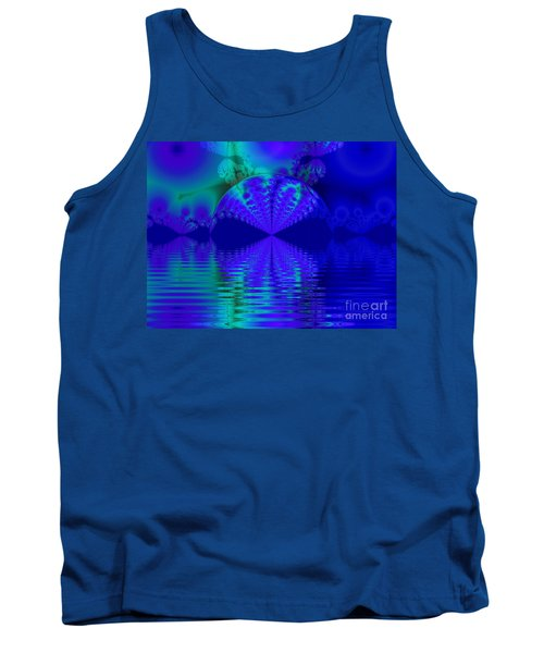 Alien Sunset Over Fantasy Lake Tank Top
