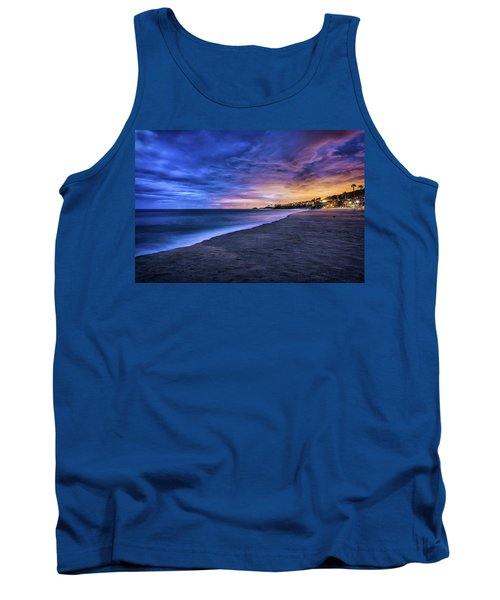 Tank Top featuring the photograph Aliso Beach Lights by Jason Roberts