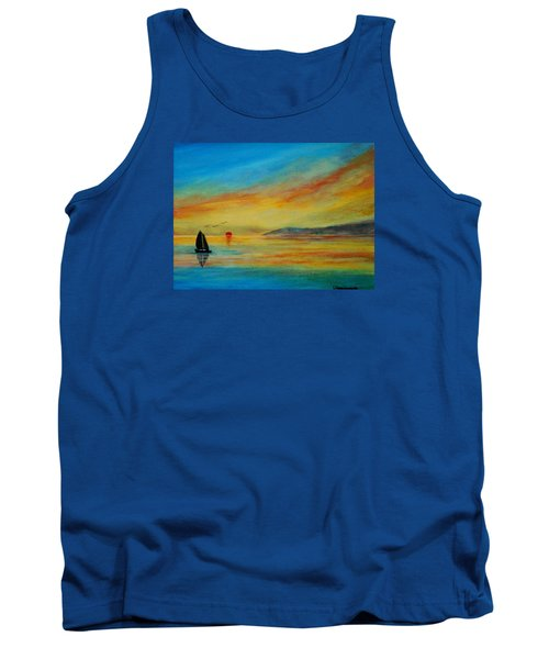 Alone In Winter Sunset Tank Top