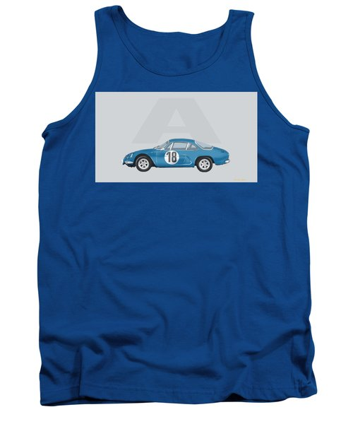 Tank Top featuring the mixed media Alpine A110 by TortureLord Art