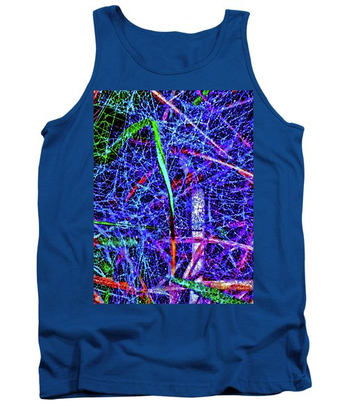 Amazing Invisible Web Tank Top by Gina O'Brien