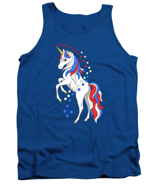 American Flag Patriotic Unicorn Tank Top