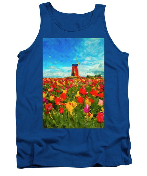 Amongst The Tulips Tank Top