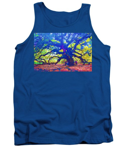 Tank Top featuring the photograph Angel Oak Tree by Donna Bentley