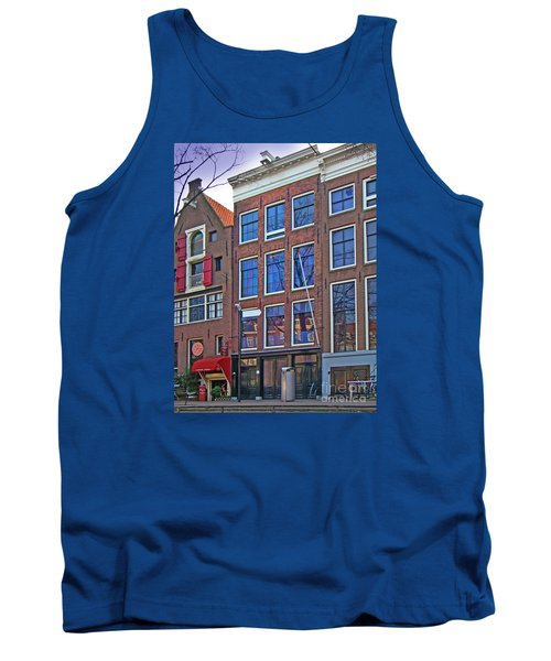 Anne Frank Home In Amsterdam Tank Top by Al Bourassa