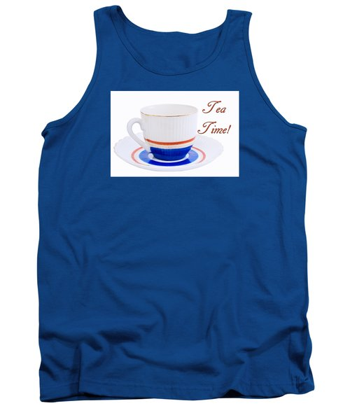 Antique Teacup From Japan With Tea Time Invitation Tank Top by Vizual Studio
