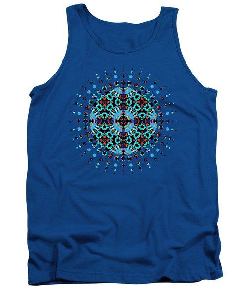 Aqua Geometric Mandala Tank Top