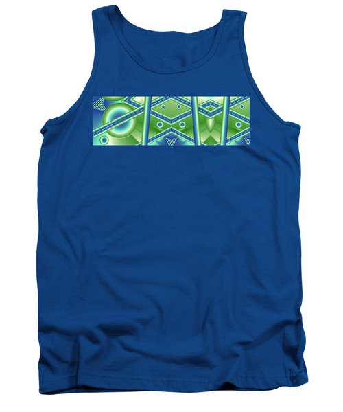 Tank Top featuring the digital art Aquamarine by Ron Bissett