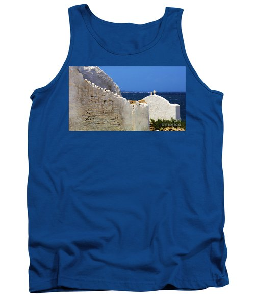 Tank Top featuring the photograph Architecture Mykonos Greece 2 by Bob Christopher