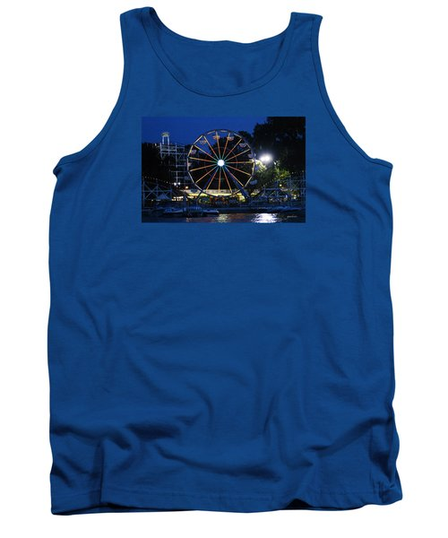 Arnolds Park At Night Tank Top