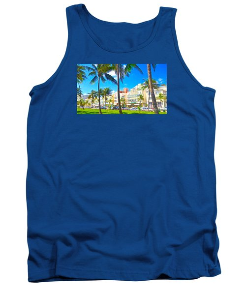 Tank Top featuring the painting Art Deco Style by Judy Kay