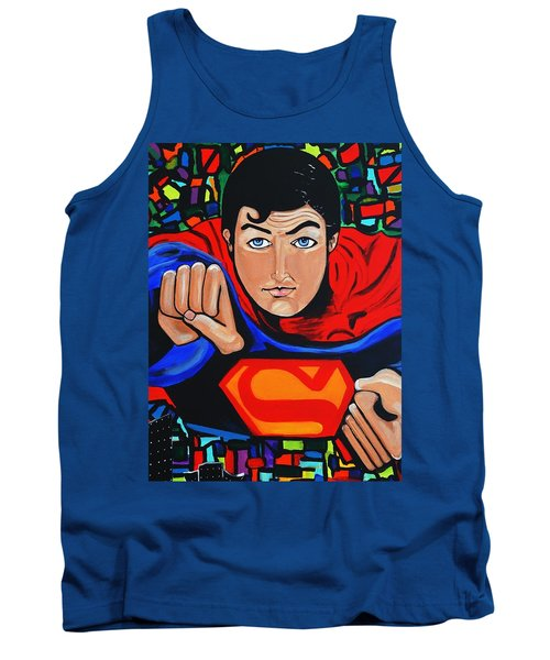 Art Deco  Superman Tank Top