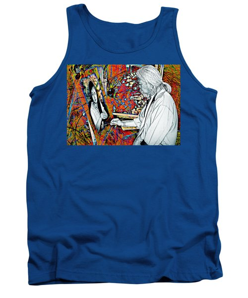 Artist In Abstract Tank Top by Ian Gledhill