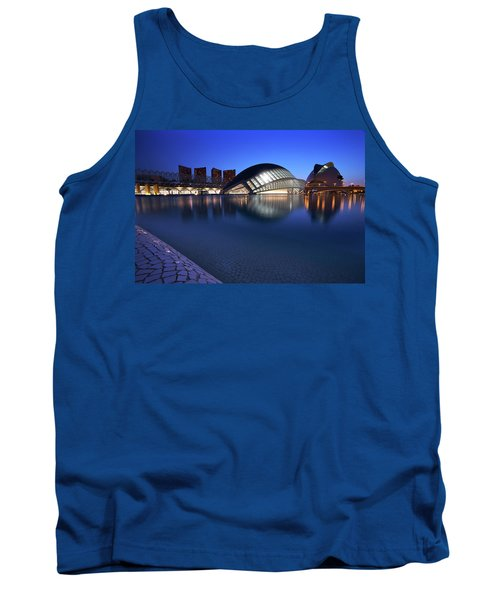 Tank Top featuring the photograph Arts And Science Museum Valencia by Graham Hawcroft pixsellpix