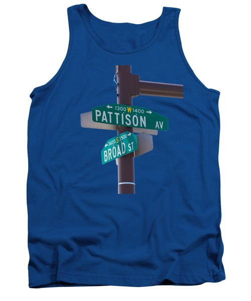 Broad And Pattison Where Philly Sports Happen Tank Top by Photographic Arts And Design Studio