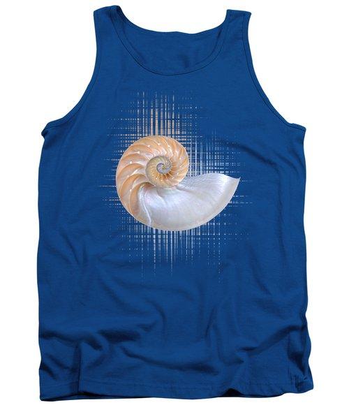 Nautilus Seashell Abstract - Vertical Tank Top