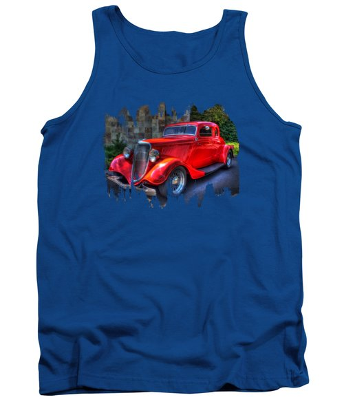 1934 Red Ford Coupe Tank Top
