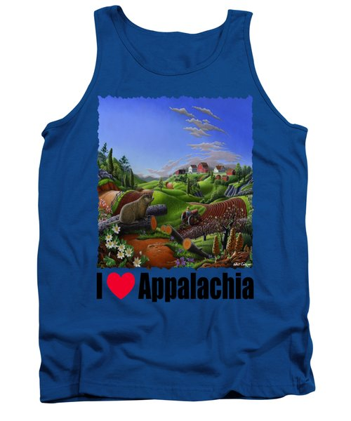 I Love Appalachia - Spring Groundhog Tank Top