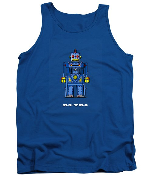 R3 Tr0 Robot Tank Top by Mark Rogan