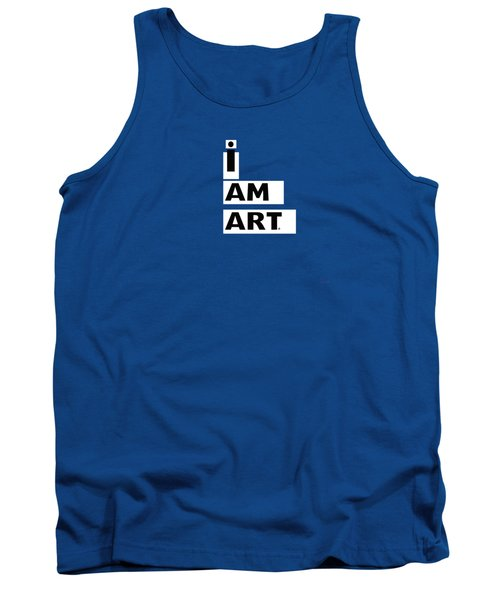 I Am Art Stripes- Design By Linda Woods Tank Top