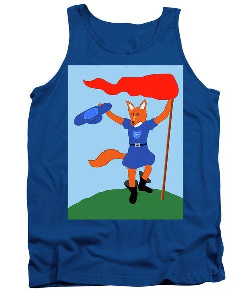 Tank Top featuring the painting Reynard The Fairy Tale Fox by Marian Cates