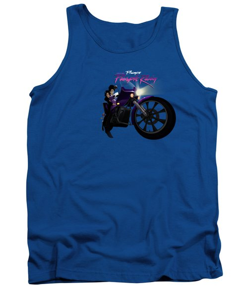 Tank Top featuring the digital art I Grew Up With Purplerain by Nelson dedos Garcia