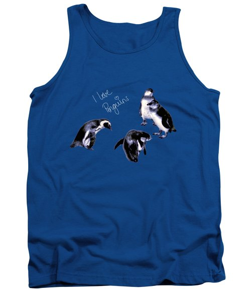 Tank Top featuring the photograph Cute Penguins by Pennie  McCracken