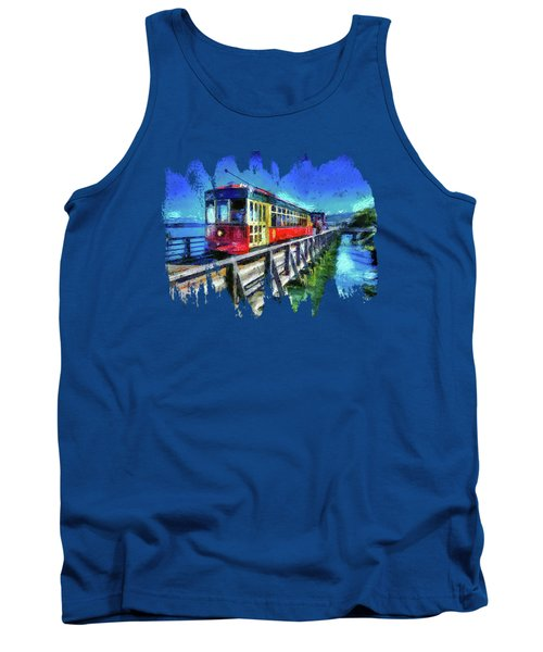 Astoria Riverfront Trolley Tank Top by Thom Zehrfeld