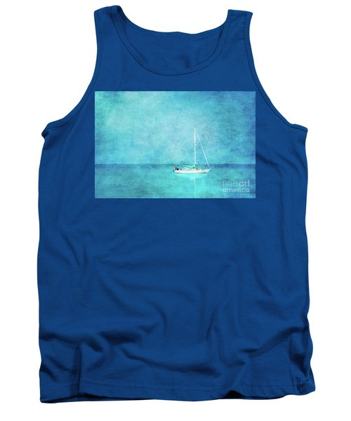 Tank Top featuring the mixed media At Anchor by Betty LaRue