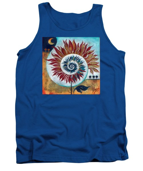 Tank Top featuring the painting At The Edge Of Day And Night by Anna Ewa Miarczynska