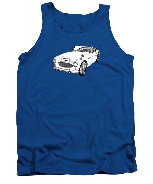 Austin Healey 300 Sports Car Drawing Tank Top by Keith Webber Jr
