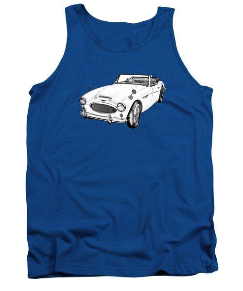 Austin Healey 300 Sports Car Illustration Tank Top