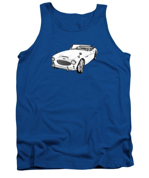 Austin Healey 300 Sports Car Drawing Tank Top